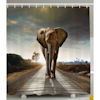 RTD-4109 - Strolling Elephant Shower Curtain
